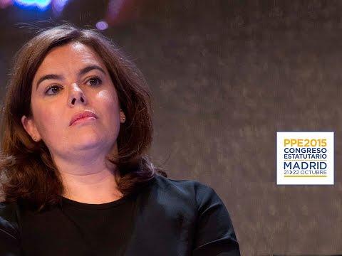 """Sáenz de Santamaría: """"El PP quiere seguir siendo un ejemplo de reformismo y de estabilidad durante la próxima legislatura"""""""