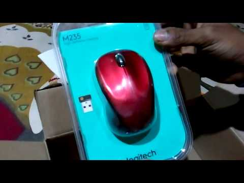 Logitech M235 Wireless Mouse (Red) UNBOXING & Review!