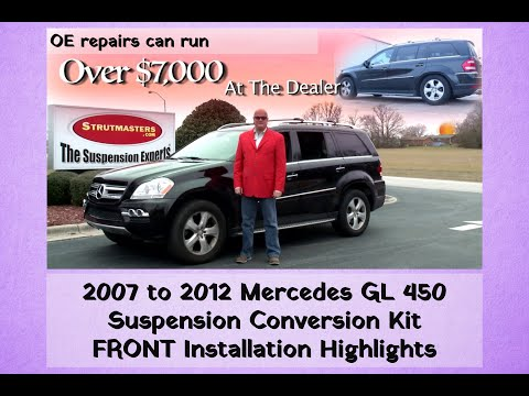 2008-2012 Mercedes GL 550 4MATIC Front Air Strut Conversion Installation