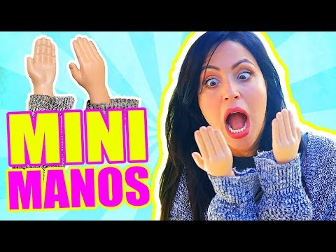 QUÉ PUEDO HACER con MANOS MINIATURA?! RETO MANOS PEQUEñAS - TINY HANDS Challenge - SandraCiresArt