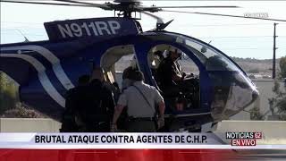Feroz ataque contra agentes de C.H.P. en Riverside – Noticias 62 - Thumbnail