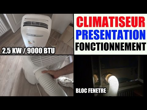 Climatiseur mobile blyss castorama pr sentation fonctionnement performance te - Climatiseur castorama mobile ...