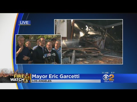 LA Mayor Delivers Update On Skirball, Creek Fires