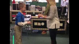 teacher learns handshake