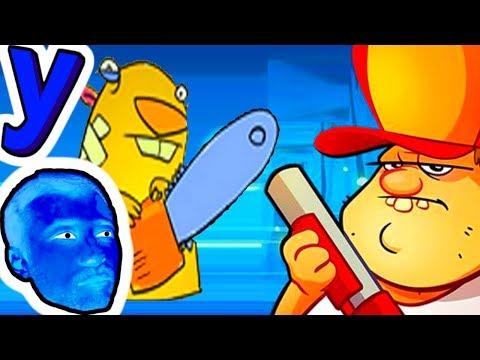 Весёлый Болотник и ПРоХоДиМеЦ Защищают Жилище! #482 Мультик ИГРА Детям - Swamp attack (видео)