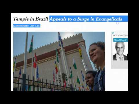 3rd Temple Built in Brazil by the One World Religion Universal Church! What's It Mean?