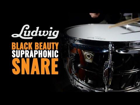 Ludwig Black Beauty  6.5x14 Supraphonic Snare Drum (LB417)