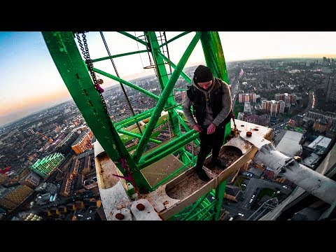 escaping from police (south london crane climb)