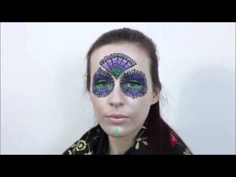 Day of the Dead / Japanese Style Face Painter (видео)
