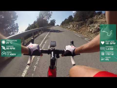 Cycling in Cyprus Mount Olympus full bike climb with GPS data / Велосипедом на гору Олимп, Кипр (видео)