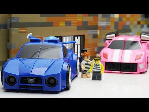 Miniforce Transformers Robot Animation! Slime Kids Toys! Lego Prison Break & Atm Fail #bobtoysreview