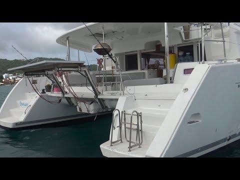 Tour of our hurricane damaged 2012 Lagoon 450 - Episode 4