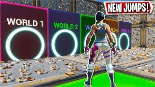 This 5 WORLD Deathrun has ORIGINAL levels in it... *FUN* (Fortnite Creative)
