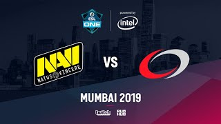Na`Vi vs compLexity, ESL One Mumbai 2019, bo3, game 2 [Mortalles & Smile]