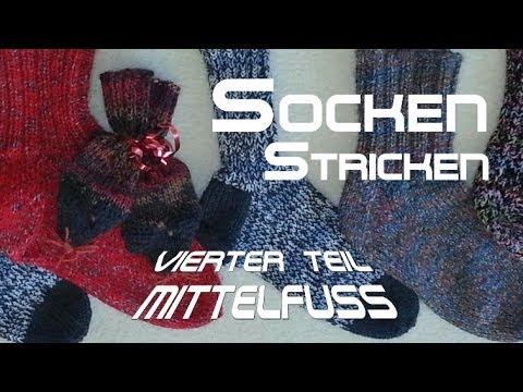 Maschenaufnahme Mittelfuß – Socken Stricken – Anleitung – mit Christine