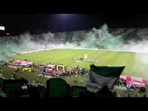 Entrada del Atlético Nacional vrs Cali Final 2017 #16 - Los del Sur - Atlético Nacional - Colombia - América del Sur