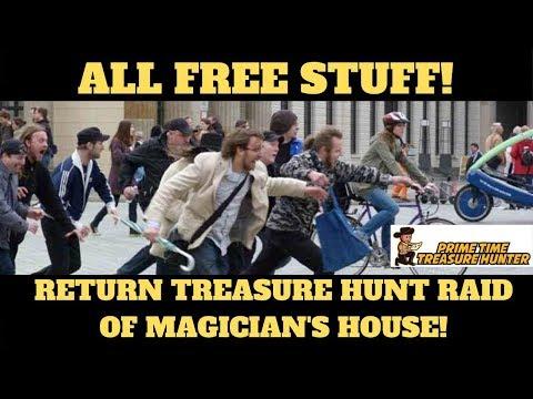 ALL FREE STUFF! Return Treasure Hunt Raid of Magician's House!