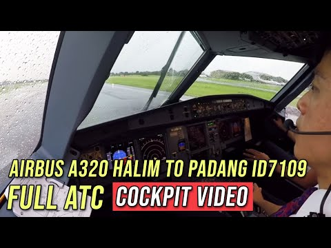 FULL ATC - Airbus A320 Halim to Padang ID7109 - by Vincent Raditya Batik Air Pilot - Cockpit Video