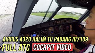 Download Video FULL ATC - Airbus A320 Halim to Padang ID7109 - by Vincent Raditya Batik Air Pilot - Cockpit Video MP3 3GP MP4