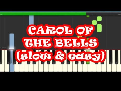Carol Of The Bells Slow Easy Piano Tutorial