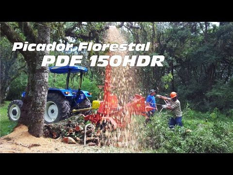 Picador Florestal PDF 150 HDR - Picando podas de árvores