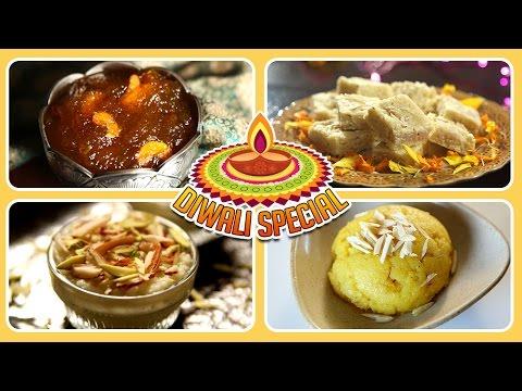 Diwali Special Desserts Recipes | Badam Burfi, Moong Dal Halwa, Kalakand & More | Rajshri Food