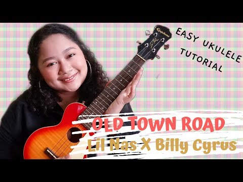 OLD TOWN ROAD by Lil Nas ft. Billy Cyrus | Easy Ukulele Tutorial