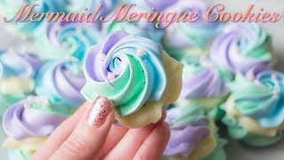 Video Mermaid Meringue Cookies with White Chocolate Ganache Filling! MP3, 3GP, MP4, WEBM, AVI, FLV Desember 2018