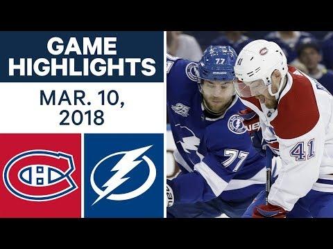 Video: NHL Game Highlights | Canadiens vs. Lightning - Mar. 10, 2018