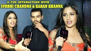 Ishqbaaz Stars Surbhi Chandna And Karan Khanna Share Special Camaraderie   Telly Reporter Exclusive