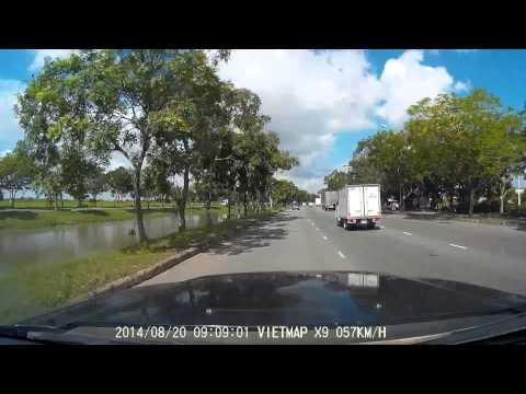 Camera hành trình Vietmap X9 ghi hình ban ngày
