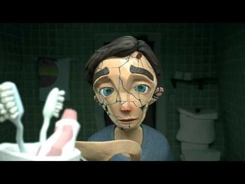 家暴環境下努力生存的小男孩站到鏡子前,將手中的東西往臉上一放時大家都沈痛到無法說話…