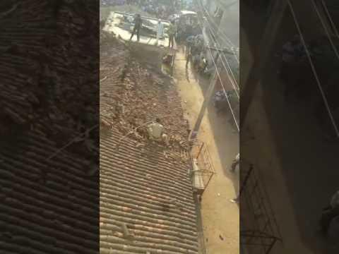 Αστυνομικός πηδά από στέγη για να γλιτώσει από λεοπάρδαλη