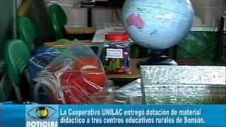 Unilac entregó dotación de material didactico en Sonsón