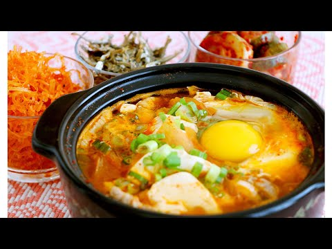 著名韓國豆腐煲的家庭做法