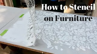 How to Stencil on Furniture: DIY Tutorial - Thrift Diving