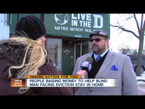 Blind man facing eviction in Detroit