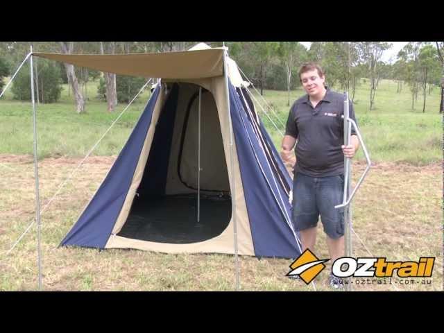 OZtrail Tourer Side Pole Setup