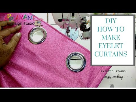 how to make eyelet curtains #appearancedesignstudio