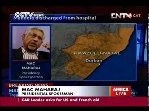 Nelson Mandela discharged from hospital CCTV News