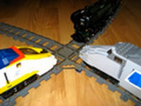 LEGO Emerald Night, TGV, and Eurostar three-way train crash