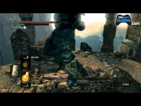 Dark Souls Walkthrough - Dark Souls Guide - Iron Golem Boss Fight (Part 053) | WikiGameGuides