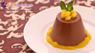 Chocolate panna cotta - Italian recipe