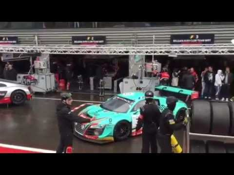 Pit garages Boxengasse 24 h of Spa Audi R 8 Spa Francorchamps 2015
