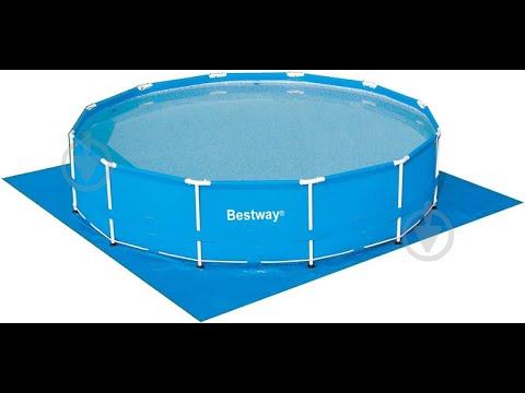 Бассейн Bestway Steel Pro MAX (установка)