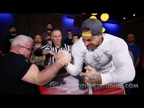 NYC Pullers Club Super Match with Pro Arm Wrestlers Dave Marroco and Mike Ayello