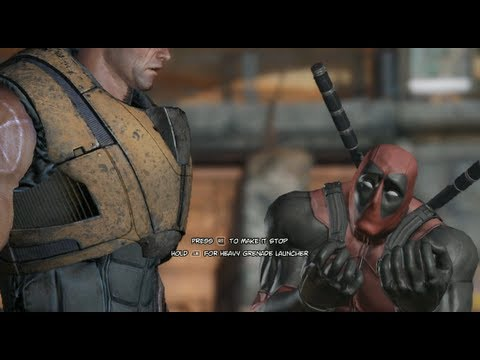 Deadpool: The Game - Meeting Cable for the first time (видео)