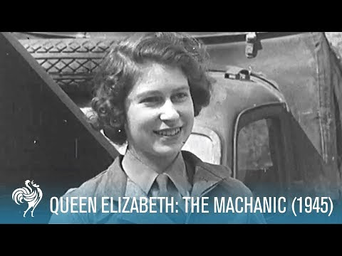The Queen's training as a mechanic during World War II