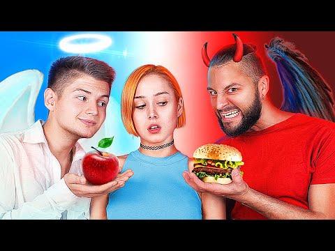 Angel vs Demon / Good and Evil Rule My Diet