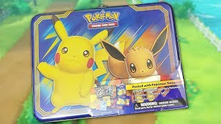 Pokemon Pikachu and Eevee Collector Chest Treasure Tin Opening! by The Pokémon Evolutionaries
